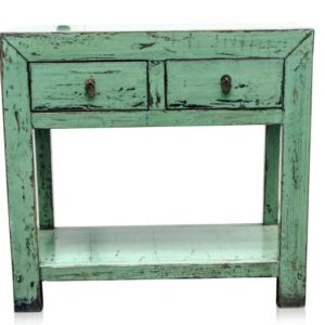 high-gloss-console-table-sea-green