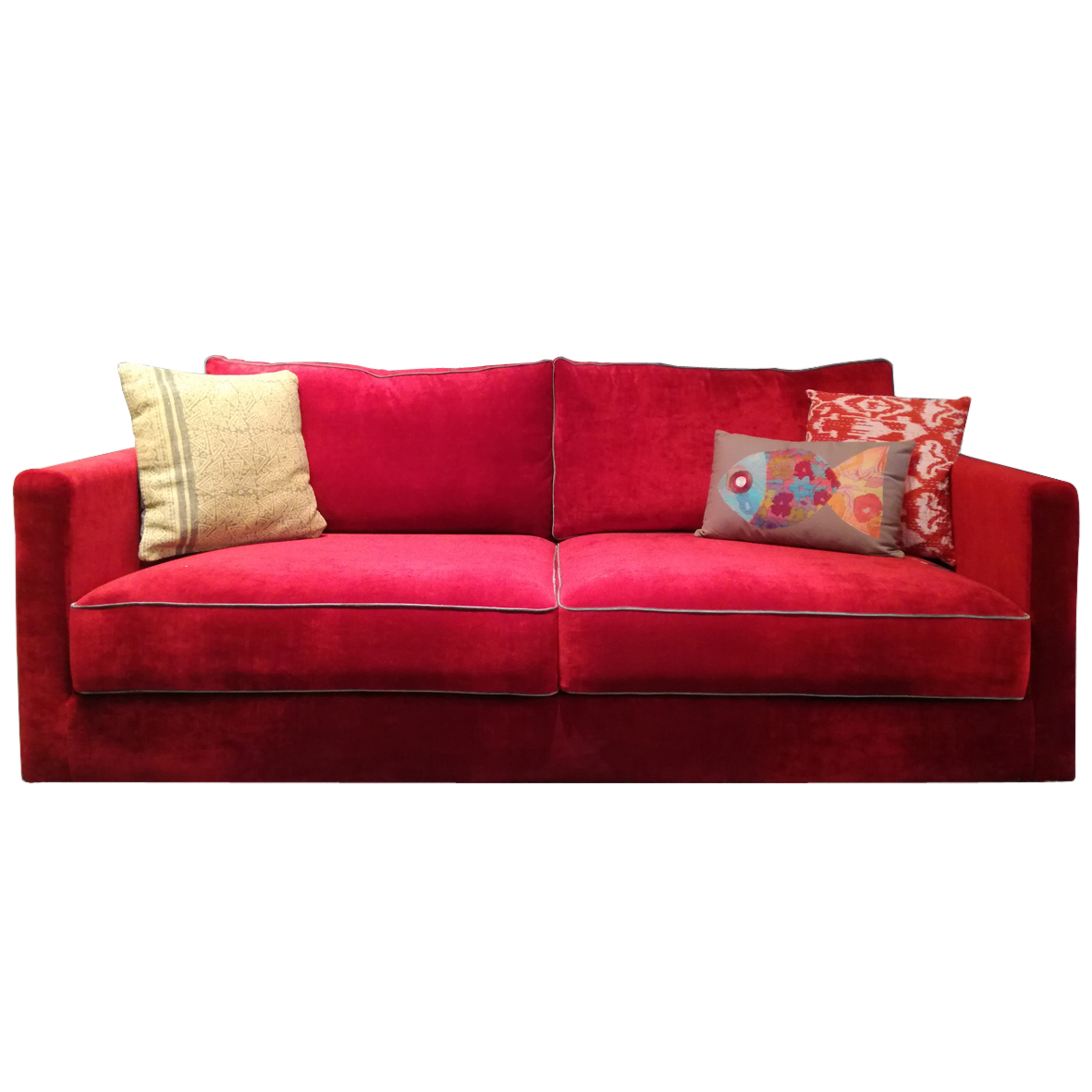 velvet sofa kate shop fabrics red forman couch
